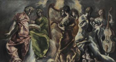 Domenico Theotokopoulos (El Greco). Angels Concert