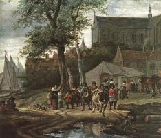 Саломон Якобс ван Рейсдал. Таверна с майским деревом. Фрагмент