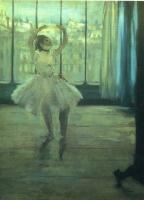 Танцовщица, позирующая для фотографа