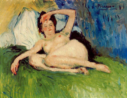 Pablo Picasso. Reclining Nude (Jane)