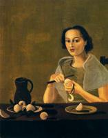 Андре Дерен. Молодая девушка режет яблоко