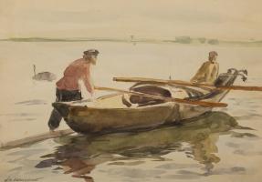 Dmitry Ivanovich Arkhangelsky. Boats. 1920s.