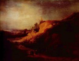 Рембрандт Харменс ван Рейн. Пейзаж с крещением городского казначея