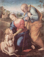 Рафаэль Санти. Святое семейство с агнцем
