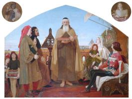 Форд Мэдокс Браун. Джон Уиклиф читает свой перевод Библии