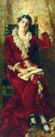 Portrait of the artist's wife, Yulia Pavlovna Makovskaya