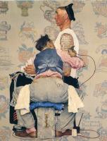 "Норман Роквелл. Татуировщик. Обложка для журнала ""The Saturday Evening Post"" (4 марта 1944)"