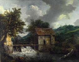 Якоб Исаакс ван Рейсдал. Две водяные мельницы и открытый шлюз в Сингравен