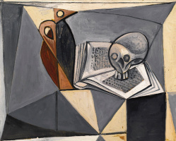 Pablo Picasso. Skull and book