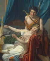 Jacques-Louis David. Sappho and a Faun. Fragment