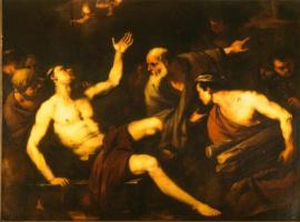 Лука Джордано. Мучение святого Лаврентия
