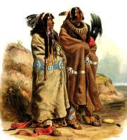 Карл Бодмер. Два индейца