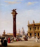 Эдвард Причетт. Пьяцетта Сан-Марко в Венеции