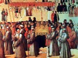 Gentile Bellini. The procession