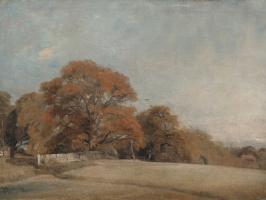 Джон Констебл. Осенний пейзаж в Восточном Бергхольте