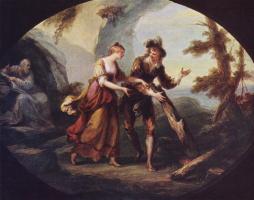 Ангелика Кауфман. Сцена с Мирандой и Фердинандом