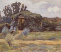 Виктор Эльпидифорович Борисов-Мусатов. Беседка в Зубриловке. 1894  темпера