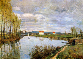 Alfred Sisley. The Seine at Argenteuil