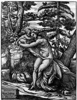 Тициан Вечеллио. Венера и Купидон в лесу