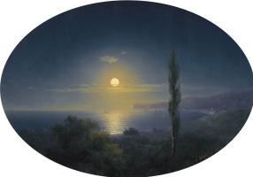 Иван Константинович Айвазовский. Крымское побережье лунной ночью