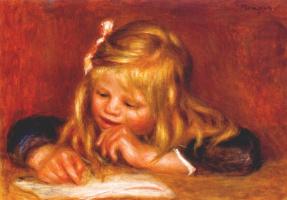 Pierre-Auguste Renoir. Coco reading