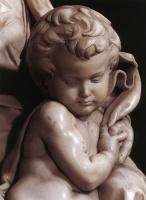 Микеланджело Буонарроти. Мадонна с младенцем. Фрагмент.