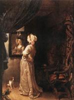 Франц ван Мирис Старший. Женщина перед зеркалом