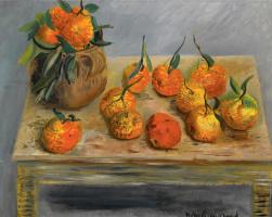 Борис Дмитриевич Григорьев. Натюрморт с апельсинами.