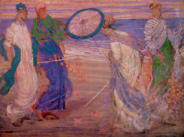 James Abbot McNeill Whistler. Symphony in blue and pink