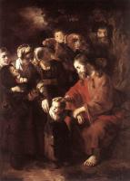 Николас Мас. Христос благословляет детей