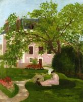 Анри Манген. Жанна с зонтиком, сидя в саду