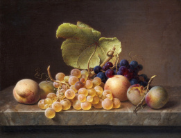 Still life with grapes. 1849