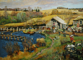 "Konstantin Fedorovich Yuon. ""Mill. October. Ligachevo ""1913"