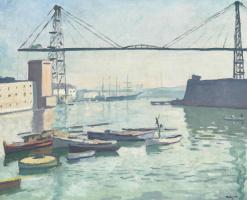 Альбер Марке. Строительство моста в Марселе