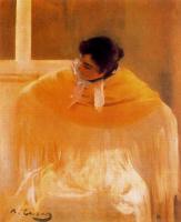 Рамон Касас Карбо. Дерзкая. Женщина в желтой шали (Хула)