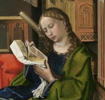 Робер Кампен. Триптих Верля. Правая створка, фрагмент: Святая Варвара