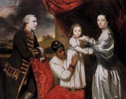 Джошуа Рейнолдс. Портрет семьи Джорджа Клайва со служанкой-индианкой