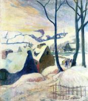 Поль Гоген. Деревня в снегу