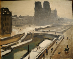 Albert Marquet. Notre Dame or the Petit Pont in the winter.