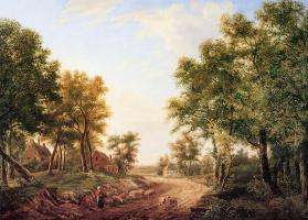 Корнелис Иммерзил. Лесной пейзаж