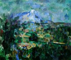 Поль Сезанн. Вид на гору Сент-Виктуар (Святой Виктории) с Лов
