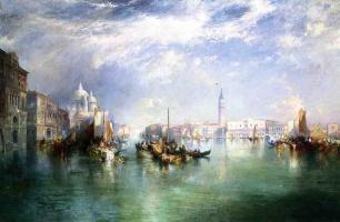 Томас Моран. Лодки на воде