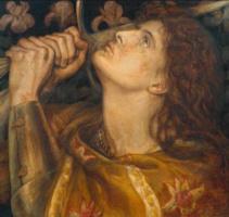 Данте Габриэль Россетти. Жанна д'Арк (фрагмент)