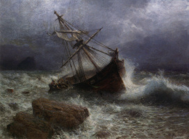 Лев Феликсович Лагорио. Буря на море. 1901