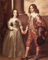 Антонис ван Дейк. Портрет Вильгельма Оранжского с будущей невестой Марией Стюарт