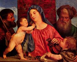 Тициан Вечеллио. Мадонна с вишнями