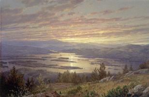 Уильям Трост Ричардс. Озеро Сквам