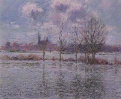 Гюстав Луазо. Наводнение возле Нанта