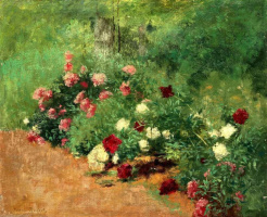 Анри Руар. Клумба с цветами