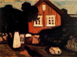 Edvard Munch. The house in the moonlight